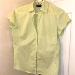 NY&Co City Stretch Button Down Blouse Medium